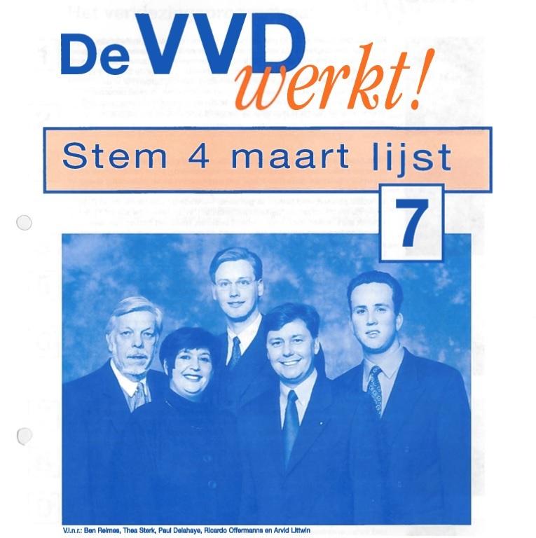 Poster voor de gemeenteraadsverkiezingen van 1998