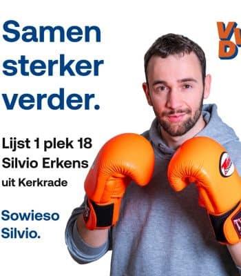 Kerkradenaar Silvio Erkens naar Tweede Kamer!